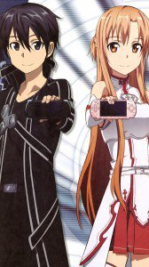 Sword Art Online.Kirito HTC One X wallpaper.Asuna.720x1280