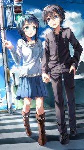 Sword Art Online.Kirito HTC One X wallpaper.Suguha Kirigaya.720x1280