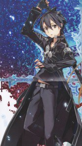 Sword Art Online.Kirito HTC Windows Phone 8X wallpaper.720x1280