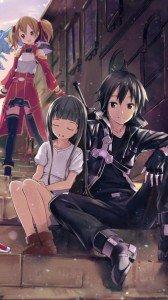 Sword Art Online.Kirito HTC Windows Phone 8X wallpaper.Yui.Silica.720x1280