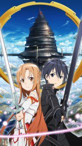 Sword Art Online.Kirito Huawei U9500-1 Ascend D1 wallpaper.Asuna.720x1280