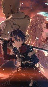 Sword Art Online.Kirito Samsung GT-i9300 Galaxy S3 wallpaper.Asuna.720x1280