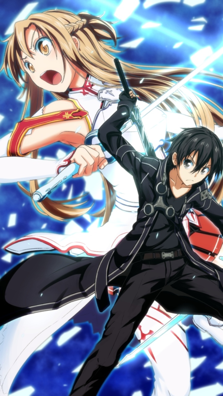 Foto Kirito Dan Asuna sword art online 720x1280 wallpapers, iphone 4 and iphone 5