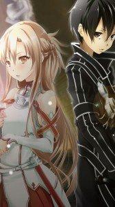Sword Art Online.Kirito Sony LT28H Xperia ion wallpaper.Asuna.720x1280