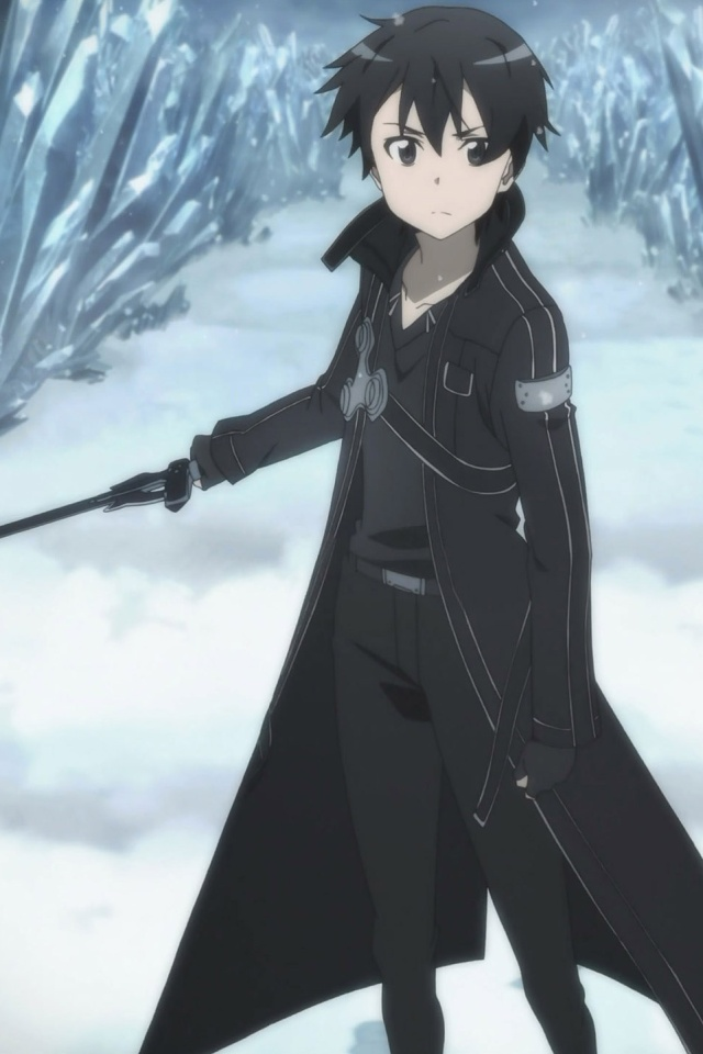 Sword Art OnlineKirito IPhone 4 Wallpaper640x960 3
