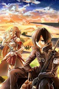 Sword Art Online.Kirito iPhone 4 wallpaper.Asuna.640x960 (5)