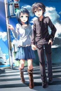 Sword Art Online.Kirito iPhone 4 wallpaper.Suguha Kirigaya.640x960