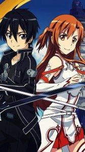 Sword Art Online.Kirito.Asuna Samsung GT-i9300 Galaxy S3 wallpaper.720x1280