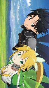 Sword Art Online.Kirito.Lyfa Sony LT26i Xperia S wallpaper.720x1280