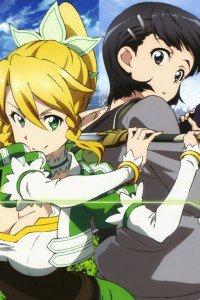 Sword Art Online.Lyfa.Suguha Kirigaya iPhone 4 wallpaper.640x960