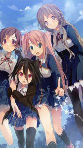 Koi to Senkyo to Chocolate.Chisato Sumiyoshi.Mifuyu Kiba.Isara Aomi.Michiru Morishita HTC Windows Phone 8X wallpaper.720x1280