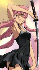 Mirai Nikki (Future Diary).Yuno Gasai HTC One X wallpaper.720x1280