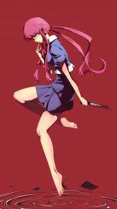 Mirai Nikki (Future Diary).Yuno Gasai Magic THL W3 wallpaper.720x1280 (1)