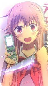 Mirai Nikki (Future Diary).Yuno Gasai Sony LT28H Xperia ion wallpaper.720x1280 (1)