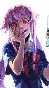 Mirai Nikki (Future Diary).Yuno Gasai Sony LT28H Xperia ion wallpaper.720x1280
