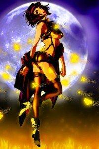 Cowboy Bebop.Faye Valentine HTC Wildfire wallpaper.320x480
