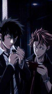 Psycho-Pass.Shinya Kogami Sony LT26i Xperia S wallpaper.Shusei Kagari.720x1280