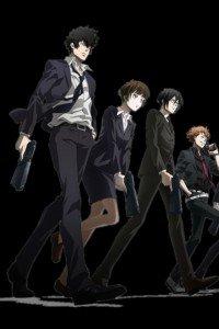 Psycho-Pass.Shinya Kogami.Akane Tsunemori.Nobuchika Ginoza.Shusei Kagari iPhone 4 wallpaper.640x960