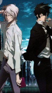 Psycho-Pass.Shinya Kogami.Shogo Makishima HTC One X wallpaper.720x1280