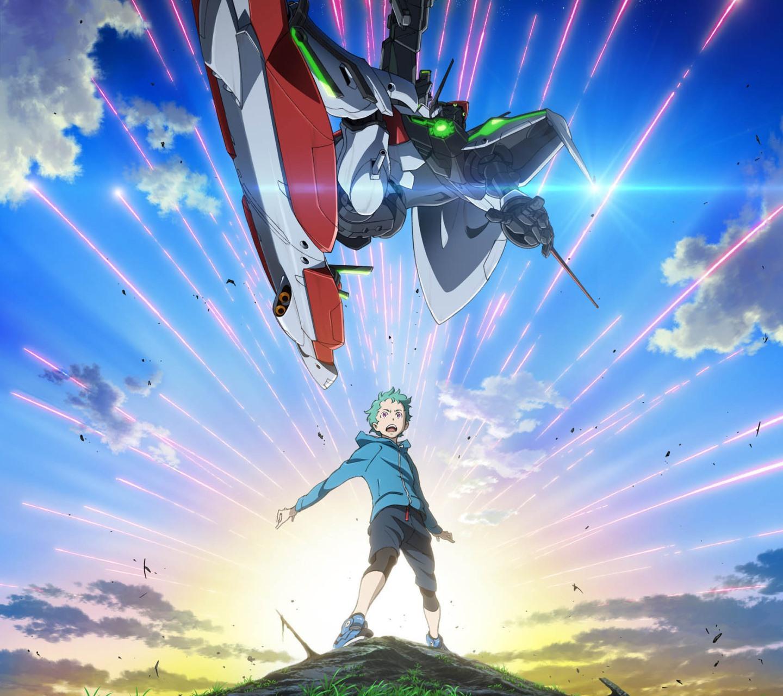 Anime Batch Comedy: Eureka Seven AO.Ao Fukai Android Wallpaper.1440×1280