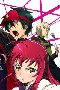 Hataraku Maou-sama.Sadao Mao.Emi Yusa  (Emilia Justina).Shiro Ashiya (Alciel) iPhone 4 wallpaper.640x960