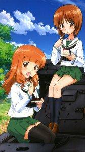 Girls und Panzer.Miho Nishizumi Sony Xperia S wallpaper.Saori Takebe.720x1280