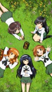 Girls und Panzer.Miho Nishizumi.Saori Takebe.Hana Isuzu.Yukari Akiyama ZTE PF112 HD wallpaper.Mako Reizei.720x1280