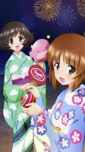 Girls und Panzer.Miho Nishizumi.Yukari Akiyama Sony Xperia V wallpaper.720x1280