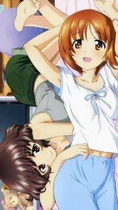 Girls und Panzer.Miho Nishizumi.Yukari Akiyama ZTE Flash wallpaper.720x1280