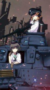Girls und Panzer.Samsung GT-i9300 Galaxy S3 wallpaper.720x1280