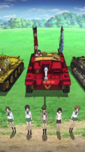 Girls und Panzer.Sony Xperia S wallpaper.720x1280