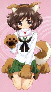 Girls und Panzer.Yukari Akiyama HTC One X wallpaper.720x1280