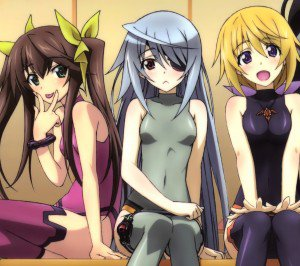 Infinite Stratos.Lingyin Huang Android wallpaper.Laura Bodewig.Charlotte Dunois.2160x1920