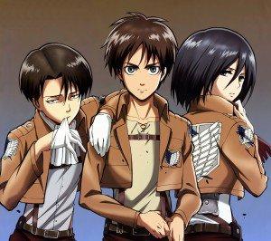 Shingeki no Kyojin.Eren Jaeger.Mikasa Ackerman Android wallpaper.Levi (Rivaille).2160x1920