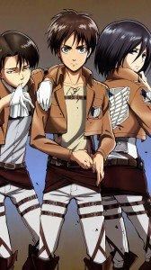 Shingeki no Kyojin.Eren Jaeger.Mikasa Ackerman Sony Xperia Z wallpaper.Levi (Rivaille).1080x1920