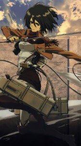 Shingeki no Kyojin.Mikasa Ackerman Samsung Galaxy S4 wallpaper.1080x1920