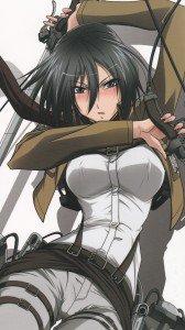 Shingeki no Kyojin.Mikasa Ackerman Sony Xperia Z wallpaper.1080x1920