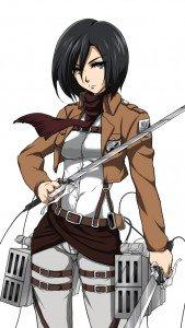 Shingeki no Kyojin.Mikasa Ackerman iPhone 5