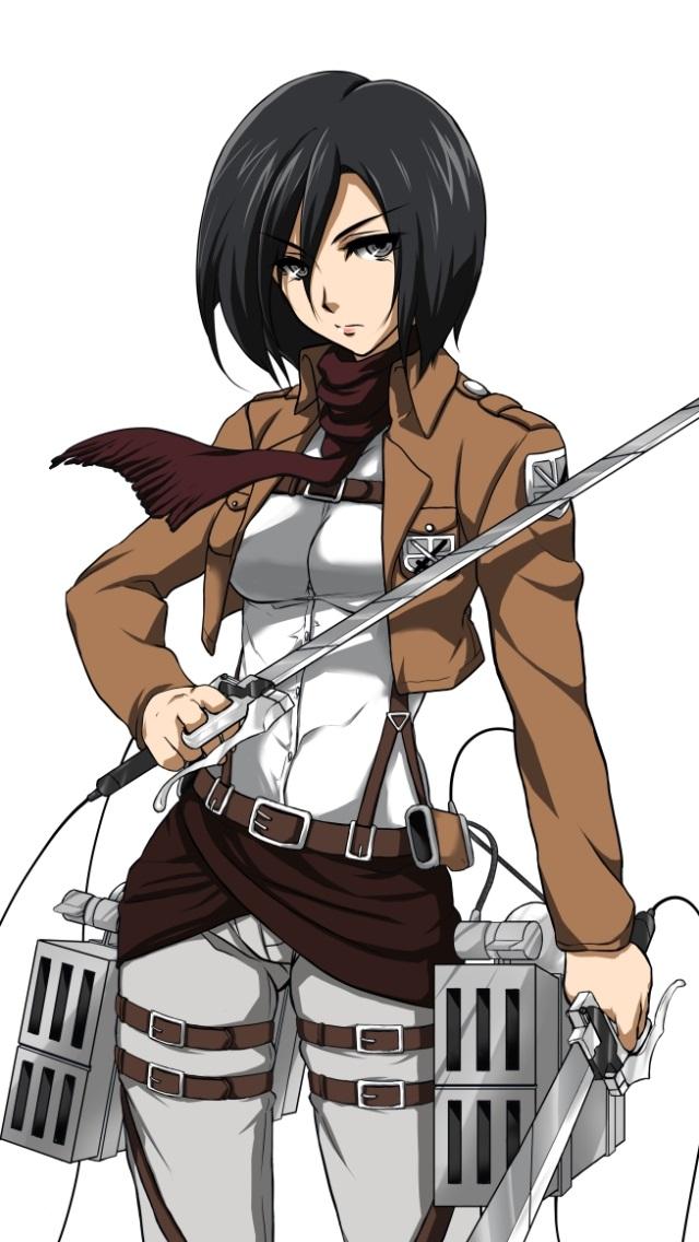 Shingeki-no-Kyojin.Mikasa-Ackerman-iPhon