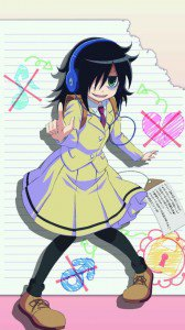 WataMote.Tomoko Kuroki Asus Padfone 2 wallpaper.720x1280