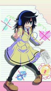 WataMote.Tomoko Kuroki Asus Padfone 2 wallpaper.720x1280