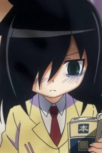 WataMote.Tomoko Kuroki LG GT540 Optimus wallpaper.320x480