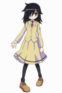 WataMote.Tomoko Kuroki Samsung S5830 Galaxy Ace wallpaper.320x480