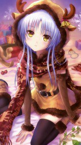 Christmas anime.Angel Beats Samsung Galaxy Note 3 wallpaper.1080x1920