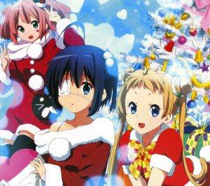 Christmas anime.Chuunibyou Android wallpaper.2160x1920