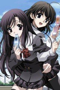 School Days.Kotonoha Katsura iPod 4 wallpaper.Sekai Saionji.640x960