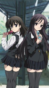 School Days.Kotonoha Katsura.Sekai Saionji Sony LT26i Xperia S wallpaper.720x1280