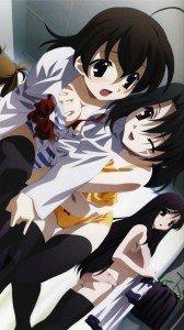 School Days.Kotonoha Katsura.Sekai Saionji.Setsuna Kiyoura HTC Windows Phone 8X wallpaper.720x1280