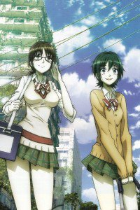 Coppelion.Aoi Fukasaku.Taeko Nomura iPod 4 wallpaper.640x960