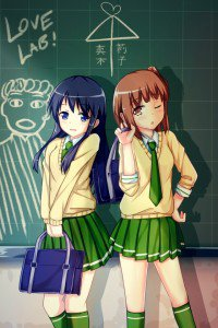 Love Lab.Riko Kurahashi.Natsuo Maki iPhone 4 wallpaper.640x960